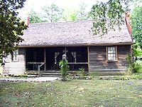 Shaw House, the oldest home in Southern Pines, NC; built 1821