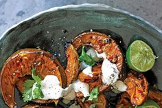 Roasted pumpkin sits just on the flavour border between sweet and savoury, and it can easily go either way. Adding chilli, garlic and fish sauce will help this dish over the savoury line but you really need to caramelise the pumpkin well to remove some of the sweetness of the added sugar and balance the dish.