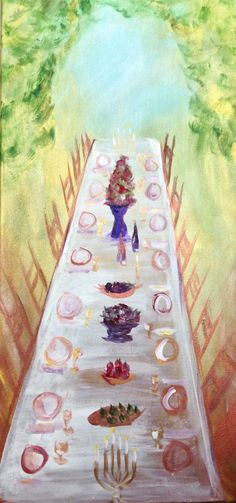 "Encountering God Through Art, Prophetic Art, ""The Banquet Table"" by Andrea Riley"