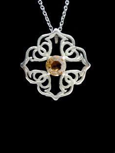 Lovely small vintage Celtic Cross pendant by HuzzarHuzzar on Etsy.