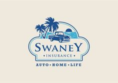 Logo for a insurance company nearby the beach,  Logo Feel and tags: Vintage, Natural, Beach, Peaceful, Retro, Drive, Car, Logo Type: Rounded Emblem frame