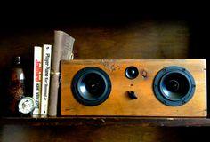 Wood Bluetooth Speakers Tabletop Speaker by SalvageAudio on Etsy, $349.00