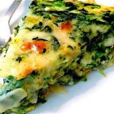 Omelete ao forno de espinafre @ allrecipes.com.br