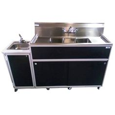 This commercial 4 compartment sink features a durable and easy-to-clean stainless steel top. Order a new portable stainless sink today at Monsam Enterprises. Bowl Sink, Basin Sink, Stainless Sink, Stainless Steel, Mobile Restaurant, Portable Sink, Hand Washing Station, Outdoor Sinks