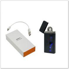 Pinkbagoly: Fekete elektromos öngyújtó USB kábellel díszdobozb...