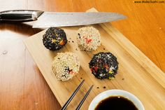 Sushi Ballz :P see the recipe here: