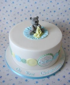Callums Christening Cake   Flickr - Photo Sharing!