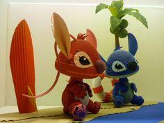 Quilling - 3D Disney Stitch  WOW!