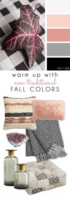 THINK PINK FOR FALL! Simply by swapping out a few pillows, blankets, and accessories, you can change up your seasonal decor without spending a lot of money! Tons of great options from World Market! Seasonal Decor, Fall Decor, How To Hang Wallpaper, Fall Color Palette, Wedding Prints, Modern Farmhouse Decor, Baby Prints, Autumn Home, Color Inspiration