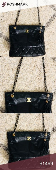 de709ff2d6d6 Beautiful Leather Vintage Chanel Bag 🌹🌹Gorgeous Vintage Leather Chanel Bag
