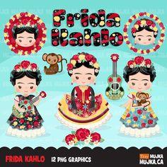 Mexican Artists, Mexican Folk Art, Planner Stickers, Cactus Vector, Zen, Girl Clipart, Clip Art, Planner Supplies, Kokeshi Dolls