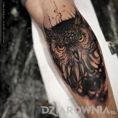 Tatuaże zwierzęta, na przedramieniu, dla mężczyzn: tatuaż Sowa