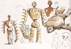 Film: Castle In The Sky ===== Character Design: Laputa Robot ===== Production Company: Studio Ghibli ===== Director: Hayao Miyazaki ===== Producer: Isao Takahata ===== Written by: Hayao Miyazaki ===== Distributed by: Toei Company
