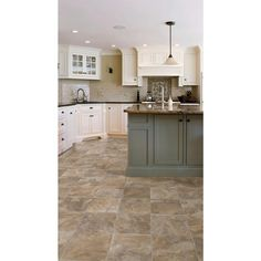 TrafficMASTER Rustic Slate Neutral 12 ft. Wide x Your Choice Length Residential Vinyl Sheet-U3140.406K526G144 - The Home Depot
