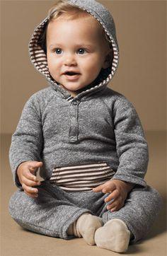 Splendid Hooded Romper (Infant) | Nordstrom