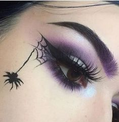 eight Halloween make-up looks as if you must strive --- Go to our tip . eight halloween make-up seems to be like you must strive --- go to our halloween store --- scary make-up . Beautiful Halloween Makeup, Halloween Makeup Looks, Halloween Halloween, Halloween Eyeshadow, Pretty Witch Makeup, Witch Makeup Easy, Purple Witch Makeup, Halloween Makeup Vampire, Halloween Spider Makeup