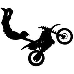 Motocross Wall Decal Sticker 9 - Decal Stickers and Mural for Kids Boys Girls Room and Bedroom. Dirt Bike Wall Art for Home Decor and Decoration Ð Extreme Sports Motocross Bike Silhouette Mural Bike Stickers, Room Stickers, Wall Stickers Murals, Wall Decal Sticker, Vinyl Decals, Laptop Decal, Bike Silhouette, Silhouette Projects, Cross Silhouette