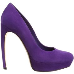 Alexander McQueen Suede Armadillo Pump ($319) ❤ liked on Polyvore featuring shoes, pumps, heels, high heels, purple, high heel pumps, suede shoes, purple shoes, purple heel shoes and heel pump