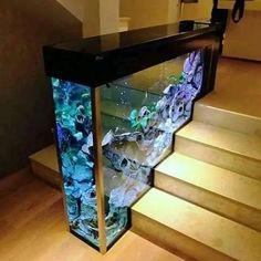 Aquarium Design, Home Stairs Design, Interior Design Living Room, Kitchen Interior, Farmhouse Style, Farmhouse Decor, Farmhouse Design, Vintage Farmhouse, Cool Fish Tanks