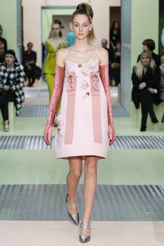 Prada Autumn/Winter 2015-16 collection. Milan fashion week.