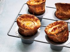 Top Chef judge and F&W Special Projects Editor Gail Simmons makes these maple-glazed popovers for her family for Thanksgiving. Get the recipe at Food & Wine. Wine Recipes, Cooking Recipes, Party Recipes, Brunch Recipes, American Dishes, Maple Bacon, Muffin Tins, Gourmet, Breakfast