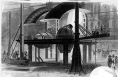 Andrew Carnegie: In this picture, the large scale rig and process used by Andrew Carnegie to produce steel is depicted. Carnegie's contribution to steel making allowed for a more widespread production of steel.