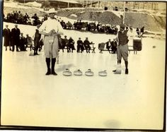 These delightful, probably Edwardian, photos are part of a group I have which are obviously all from the same album although the. Equipment, Vintage Winter, Winter Sports, Curling, Rocks, Photos, Pictures, Soccer, Canada