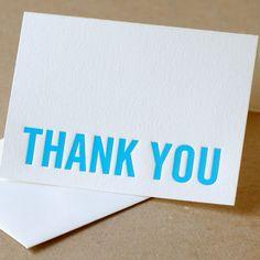 thank you letterpress