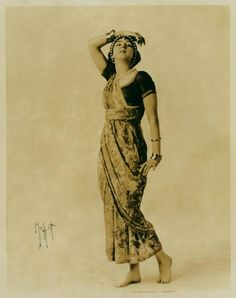 ruth st denis posed in bracelets