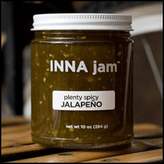 Sweet & spicy is one of my favorite taste sensations, so this jalapeno jam is right up my alley.  I love it with meats, on a sandwich, and with cheese.  INNA Jam products are intense.  Great, deep flavors.
