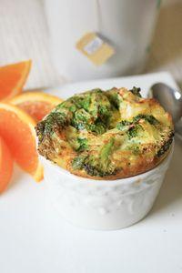 Egg Bake Casserole -- with Onion, Zucchini, Broccoli, & Spinach