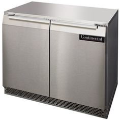 "Need more room to keep refrigerated ingredients? This Continental Refrigerator UC36 undercounter refrigerator is the perfect solution, giving you 10.3 cubic feet of storage space in a 36"" footprint! Great for kitchens where space is at a premium, this unit boasts a front breathing design so that you can install it flush against a wall, under a countertop, or in other low-clearance applications. It is also engineered to meet ADA height guidelines, and on the interior, 2 heavy duty epoxy…"