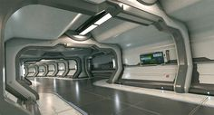 ArtStation - Deck C, Stefan Morrell - keeping the station clean - no war here