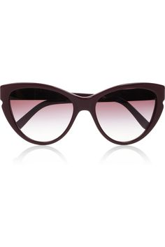 ** Stella Mccartney Cat Eye Acetate Sunglasses in Purple (burgundy)