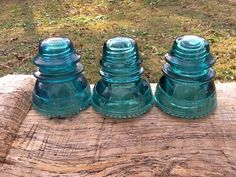 Hemingray 42 Blue Glass Insulators