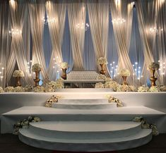 Reception Dais for Lovely Client Sofia by Wedding Backdrop Design, Wedding Draping, Wedding Stage Design, Wedding Hall Decorations, Wedding Reception Backdrop, Wedding Entrance, Wedding Mandap, Wedding Centerpieces, Indian Reception