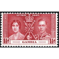 Gambia KGVI 1937 Coronation 1½d Carmine Unmounted Mint NHM SG 148 Sc 130 stamp Listing in the Gambia,Commonwealth & British Colonial,Stamps Category on eBid United Kingdom | 144085449