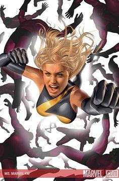 Ms Marvel vs Skrulls by Greg Horn
