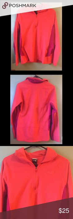 The North Face pull over fleece Worn one time, great condition. Fits a little small for a large, more like a medium! The North Face Jackets & Coats