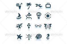 Gray vacation icons