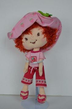 "Strawberry Shortcake 10"" Ban Dai Plush Doll Stuffed Animal Toy 2002 SEE CONDITIO #BanDai #strawberryshortcake"