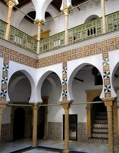 Renovated mansion in the kasbah of Algiers, Algeria.