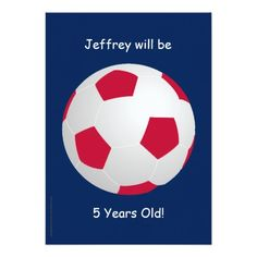 5th Birthday Party Invitation Soccer Ball 9th Parties 8th Ideas
