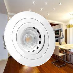 RF-2 LED-Einbauleuchte weiß wie 50W Halogen, 6W dimmbar, warm weiß, GU10 230V in Möbel & Wohnen,Beleuchtung,Deckenlampen & Kronleuchter | eBay