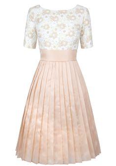 Petals & pleats nude dress Nude Dress, Women Wear, Two Piece Skirt Set, Skirts, Collection, Dresses, Design, Fashion, Gowns
