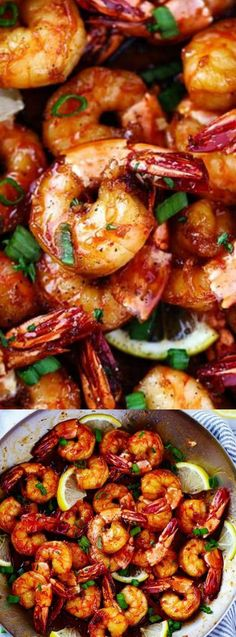 Sticky Honey Garlic Shrimp from The Recipe Critic are coated in the most amazing stick honey garlic butter soy sauce. It coats the shrimp perfectly and creates such a flavorful and sticky sauce! #HoneyYummy