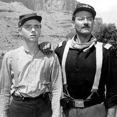 """Claude Jarman Jr. Et John Wayne dans """" Rio Grande"""""""