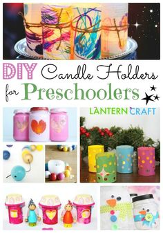 Love DIY Candle Holders? Here is a fantastic set of DIY Candle Holders for Preschoolers (and BIG kids too). Perfect little Luminaries and votives to enjoy all year round. So very pretty! I think that these candle holders, really brighten up and dark corner in your home. Such cute decor that kids can make. They make wonderful gifts too!