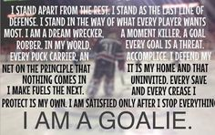 I AM A GOALIE (MOM)