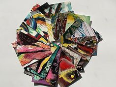 Original LABEDZKI Cropped Paintings Scraps 25 Pieces All Between 2 5 Inches | eBay
